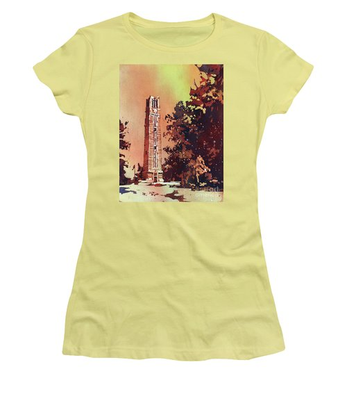 Ncsu Bell-tower Women's T-Shirt (Athletic Fit)