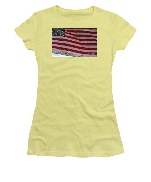 Never Forget Women's T-Shirt (Junior Cut) by Jim Lepard