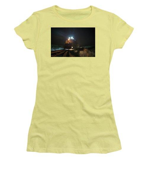 Night Train Women's T-Shirt (Junior Cut) by Aaron J Groen