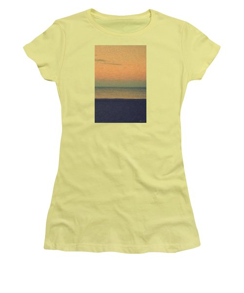 Not Quite Rothko - Breezy Twilight Women's T-Shirt (Junior Cut) by Serge Averbukh