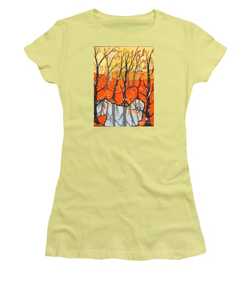 November Morning  Women's T-Shirt (Athletic Fit)