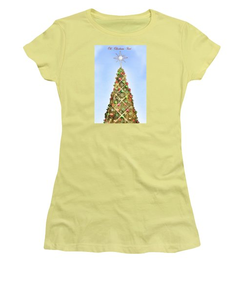 Women's T-Shirt (Junior Cut) featuring the photograph Oh Christmas Tree by Joan Bertucci