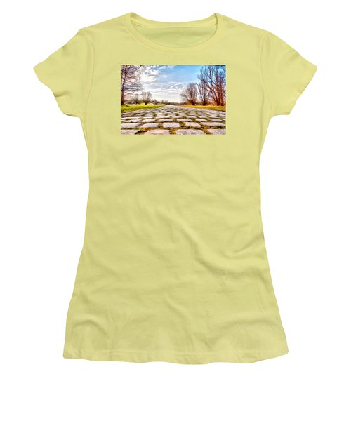 Women's T-Shirt (Junior Cut) featuring the photograph Olimpia Park - Munich by Sergey Simanovsky