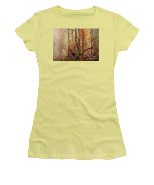 Women's T-Shirt (Junior Cut) featuring the painting on the Verge by Elizabeth Carr
