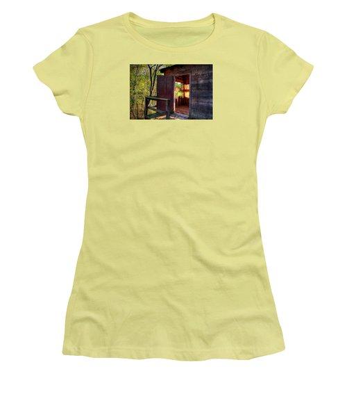 Open Door Women's T-Shirt (Athletic Fit)
