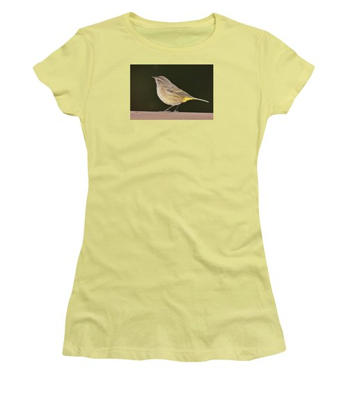 Palm Warbler Women's T-Shirt (Junior Cut) by Alan Lenk