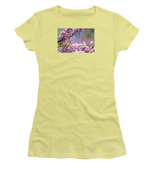 Pastel Blossoms Women's T-Shirt (Athletic Fit)