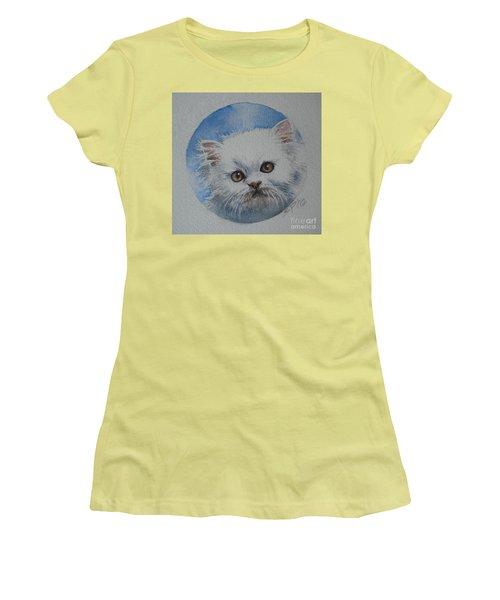 Women's T-Shirt (Junior Cut) featuring the painting Persian Kitten by Sandra Phryce-Jones