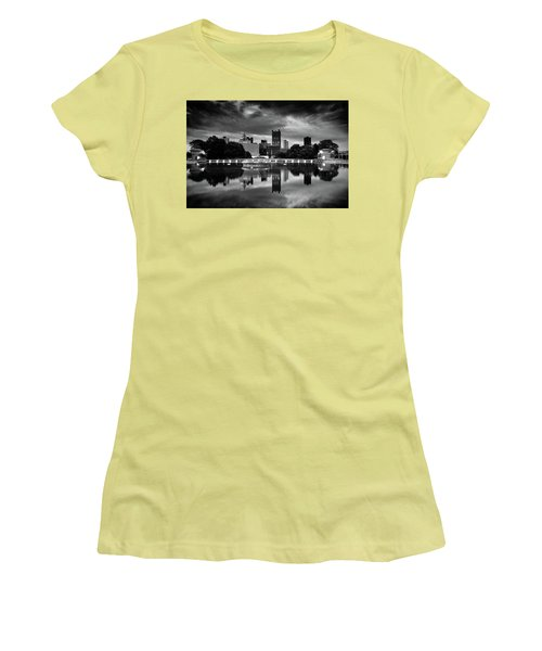 Pittsburgh  Reflections  Women's T-Shirt (Junior Cut) by Emmanuel Panagiotakis
