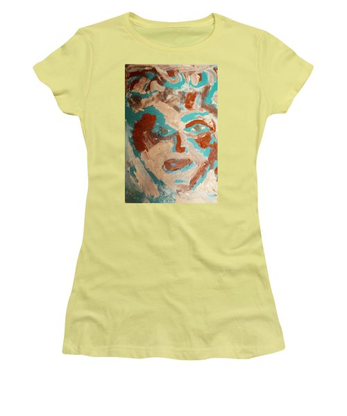 Women's T-Shirt (Junior Cut) featuring the painting Red White And Blue by Shea Holliman