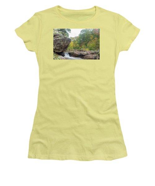 Rocky Creek Shut-ins Women's T-Shirt (Junior Cut) by Julie Clements