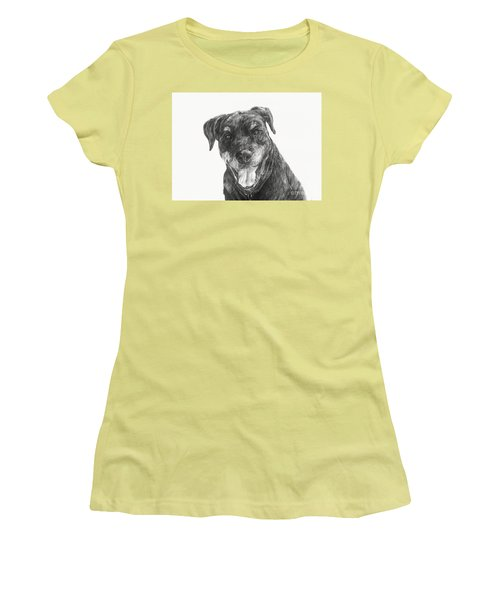 Women's T-Shirt (Junior Cut) featuring the drawing Ruby  by Meagan  Visser