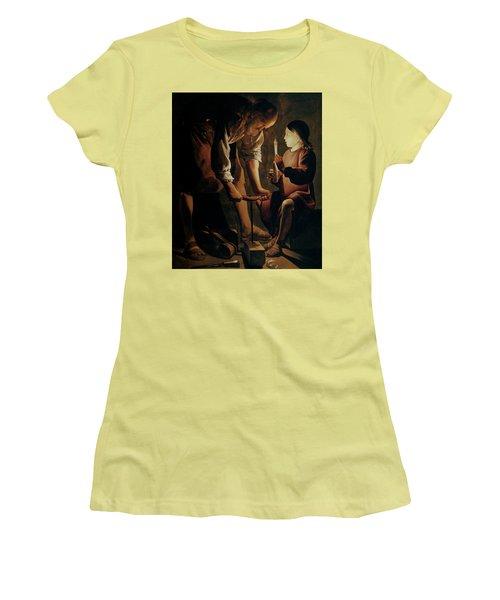 Saint Joseph The Carpenter  Women's T-Shirt (Athletic Fit)