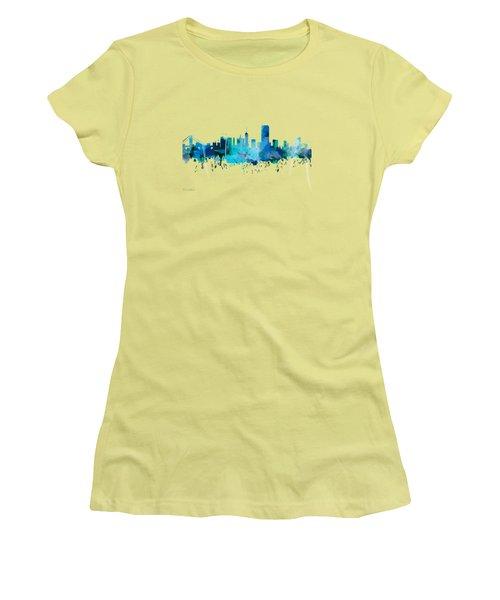 San Francisco Women's T-Shirt (Junior Cut) by Mark Ashkenazi