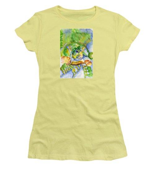 Sea Turtle Hideaway Women's T-Shirt (Junior Cut) by Tamyra Crossley