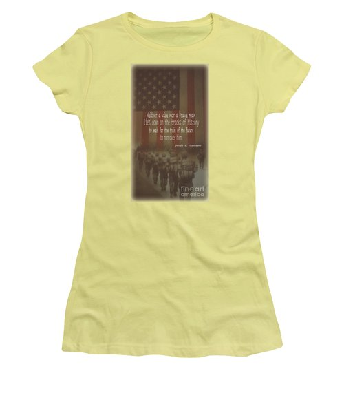 Women's T-Shirt (Junior Cut) featuring the photograph Serving Our Country by Debby Pueschel