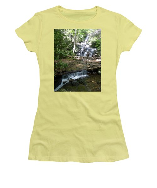 Women's T-Shirt (Junior Cut) featuring the photograph Set Rock Creek Falls by Joel Deutsch