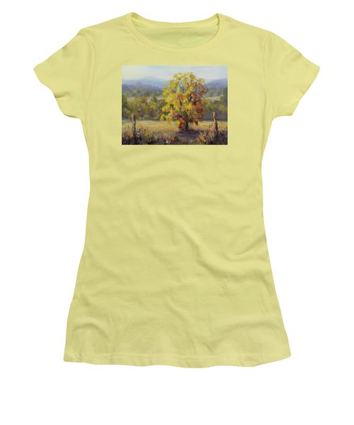 Shades Of Autumn Women's T-Shirt (Junior Cut) by Karen Ilari