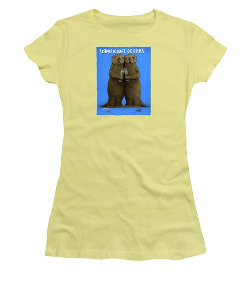 Significant Otters... Women's T-Shirt (Athletic Fit)