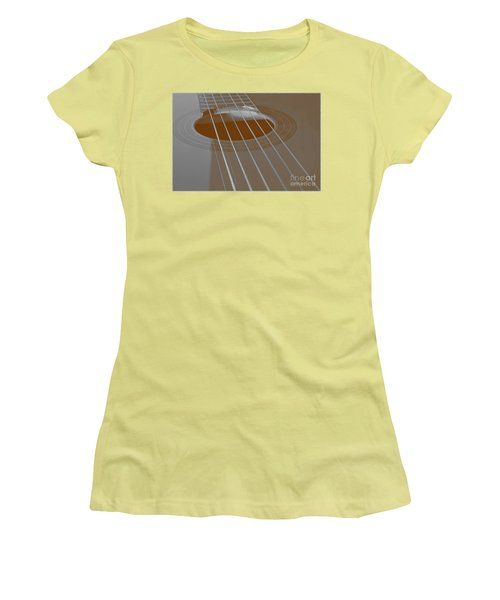 Six Guitar Strings Women's T-Shirt (Junior Cut) by Angelo DeVal