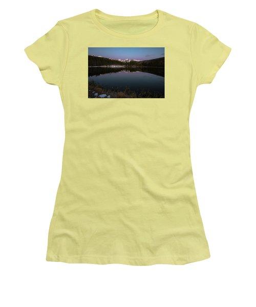 Sprague Lake Women's T-Shirt (Junior Cut) by Gary Lengyel