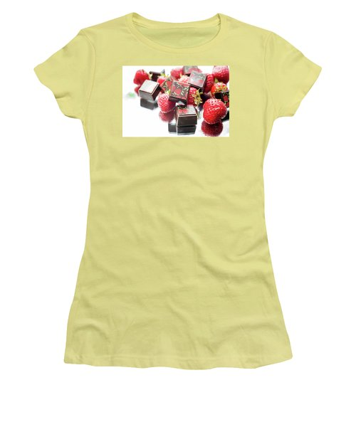 Strawberry Delight Women's T-Shirt (Junior Cut) by Sabine Edrissi