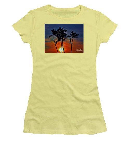 Sunlit Palms Women's T-Shirt (Junior Cut) by Craig Wood