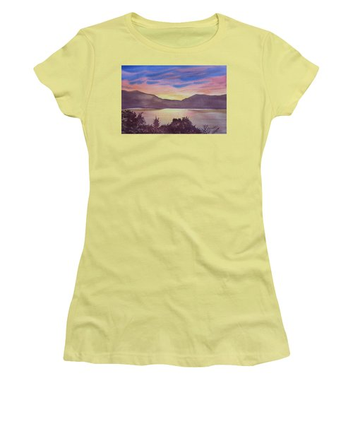 Sunset At Woodhead Campground Women's T-Shirt (Athletic Fit)