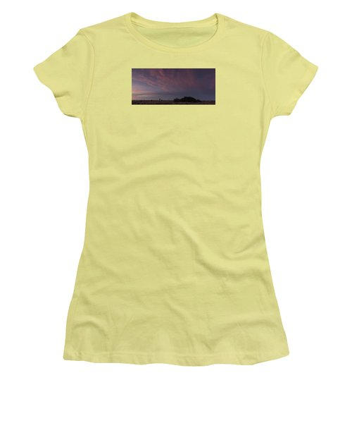 Sunset Over The Wetlands Women's T-Shirt (Athletic Fit)