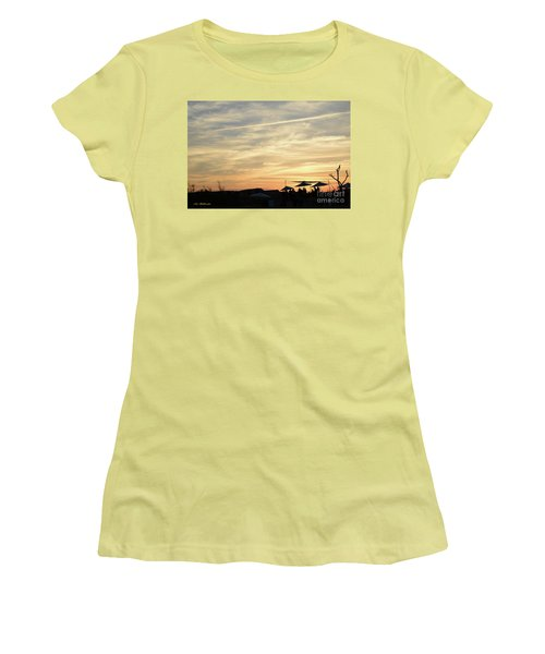 Sunset View Women's T-Shirt (Athletic Fit)