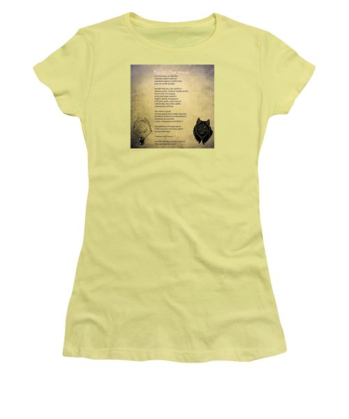 Tale Of Two Wolves - Art Of Stories Women's T-Shirt (Junior Cut) by Celestial Images