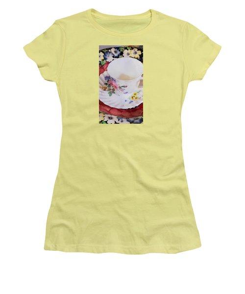 Tea Time Women's T-Shirt (Junior Cut) by Bonnie Bruno