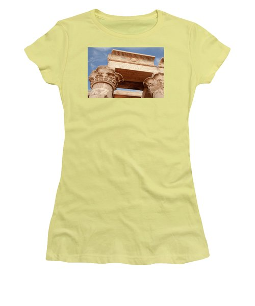 Women's T-Shirt (Athletic Fit) featuring the photograph Temple Of Kom Ombo by Silvia Bruno