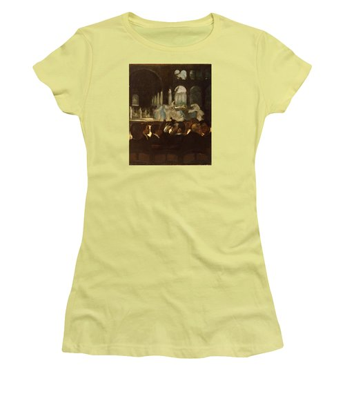 Women's T-Shirt (Junior Cut) featuring the painting The Ballet From Robert Le Diable by Edgar Degas