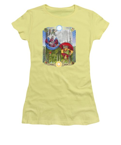 The Holly King And The Oak King Women's T-Shirt (Junior Cut) by Melissa A Benson