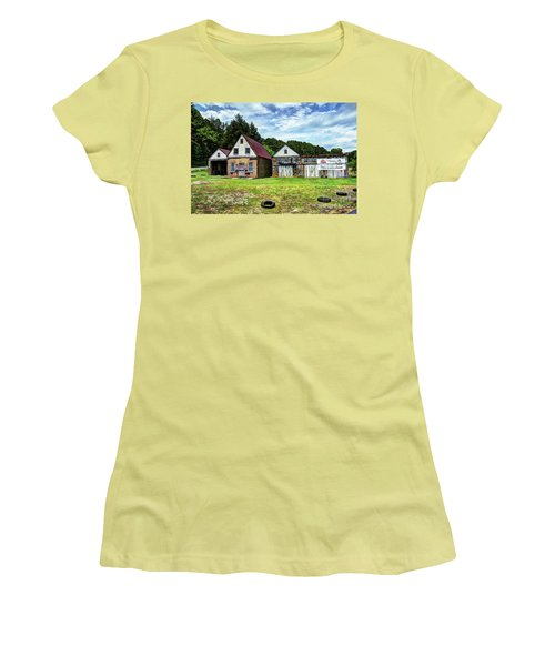 The Old Gas Station Women's T-Shirt (Athletic Fit)