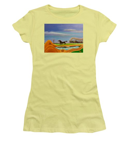 The Race Women's T-Shirt (Junior Cut) by Margaret Harmon