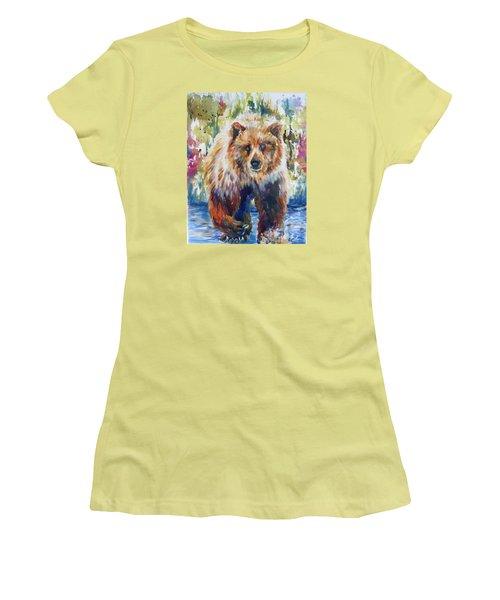 The Summer Bear Women's T-Shirt (Junior Cut) by P Maure Bausch