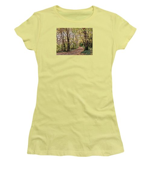 The Woods In Autumn Women's T-Shirt (Athletic Fit)