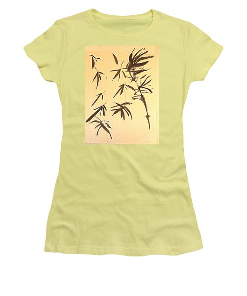 Women's T-Shirt (Junior Cut) featuring the painting Thinking Of Wind 3 by Nancy Kane Chapman