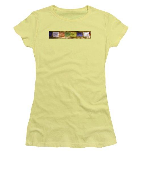Tibetan Prayer Flags Women's T-Shirt (Junior Cut) by Peter v Quenter