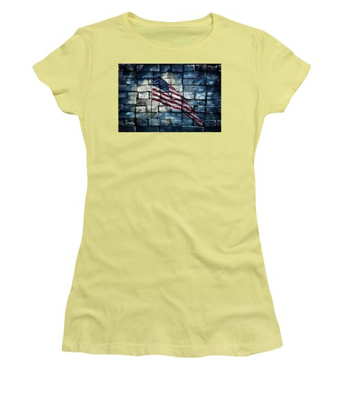 Women's T-Shirt (Athletic Fit) featuring the photograph Together We Stand by Aaron Berg