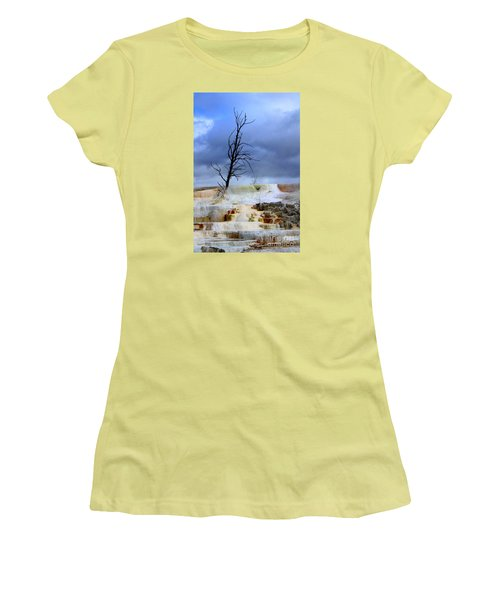 Travertine Terraces Women's T-Shirt (Junior Cut) by Irina Hays