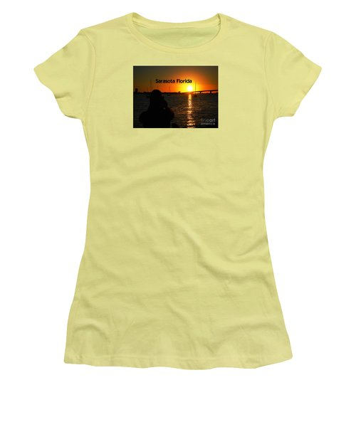 Tropical Sunset Women's T-Shirt (Junior Cut) by Gary Wonning