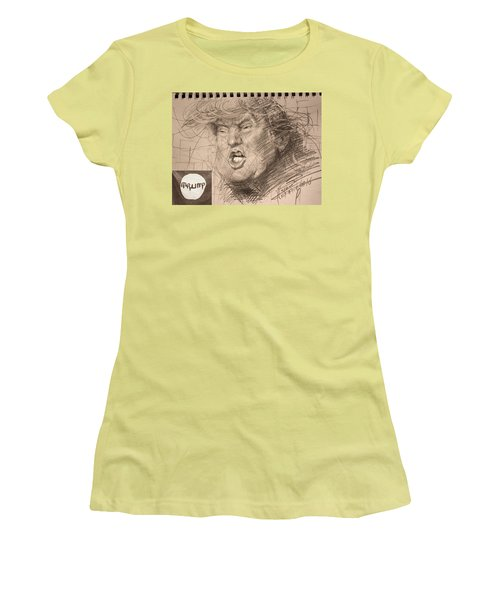 Trump Women's T-Shirt (Junior Cut) by Ylli Haruni