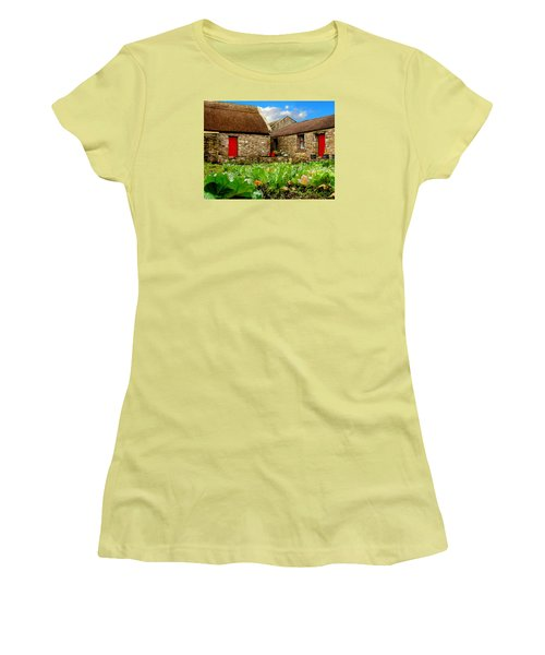 Two Red Doors Women's T-Shirt (Athletic Fit)