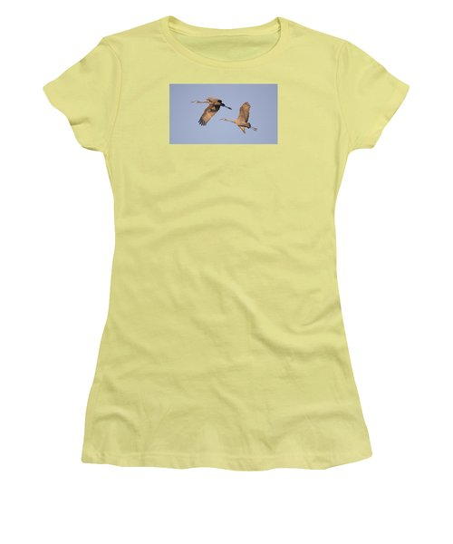 Women's T-Shirt (Junior Cut) featuring the photograph Two Together by Wanda Krack