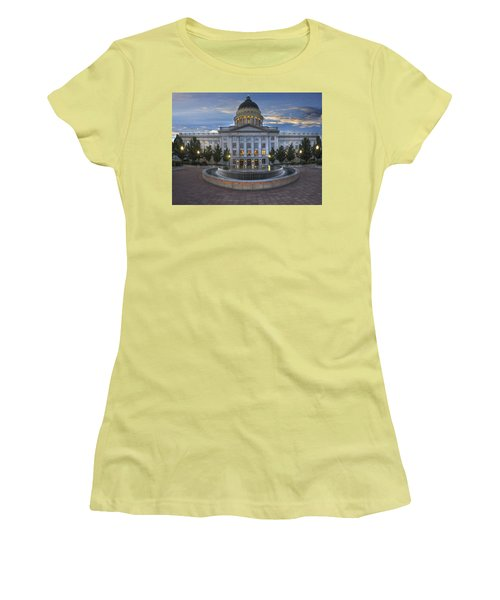 Utah State Capitol Building Women's T-Shirt (Athletic Fit)
