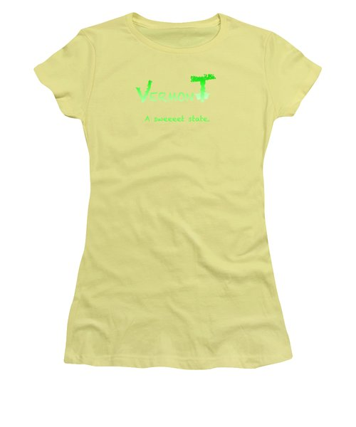 Vermont Sweeet Women's T-Shirt (Junior Cut) by George Robinson