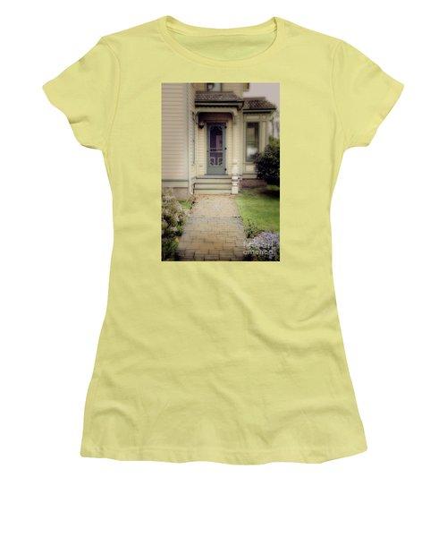Women's T-Shirt (Junior Cut) featuring the photograph Victorian Porch by Jill Battaglia